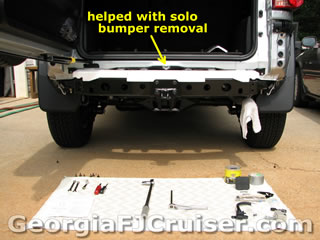 FJ Cruiser - 'Factory' Tow Hitch Install - Picture 3 - Small